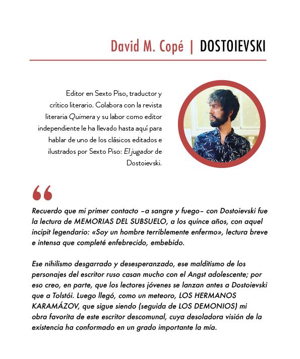Creatividad_CARA A CARA con Dostoievski_David M. Copé
