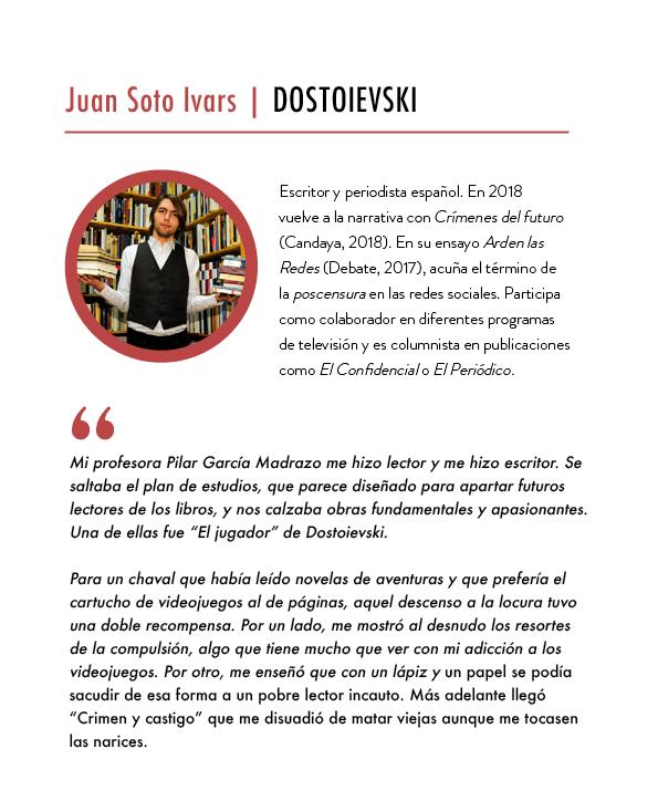 Creatividad_CARA A CARA con Dostoievski_Juan Soto Ivars