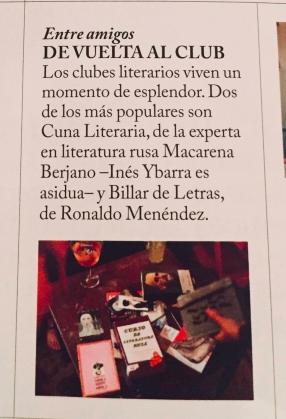 Agenda enero 2018. Vogue Spain.